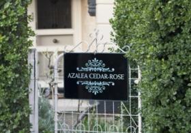 Azalea Cedar Rose Villa gate
